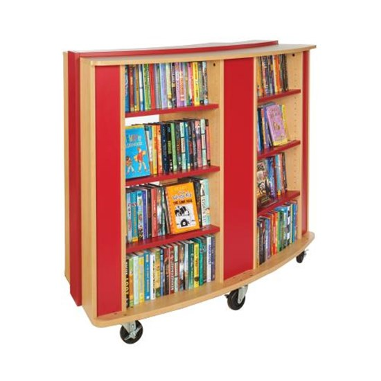 Mobile Curved Bookcase