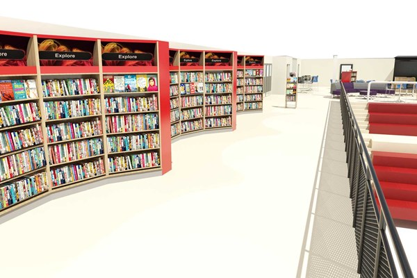 High school library 3d visualization