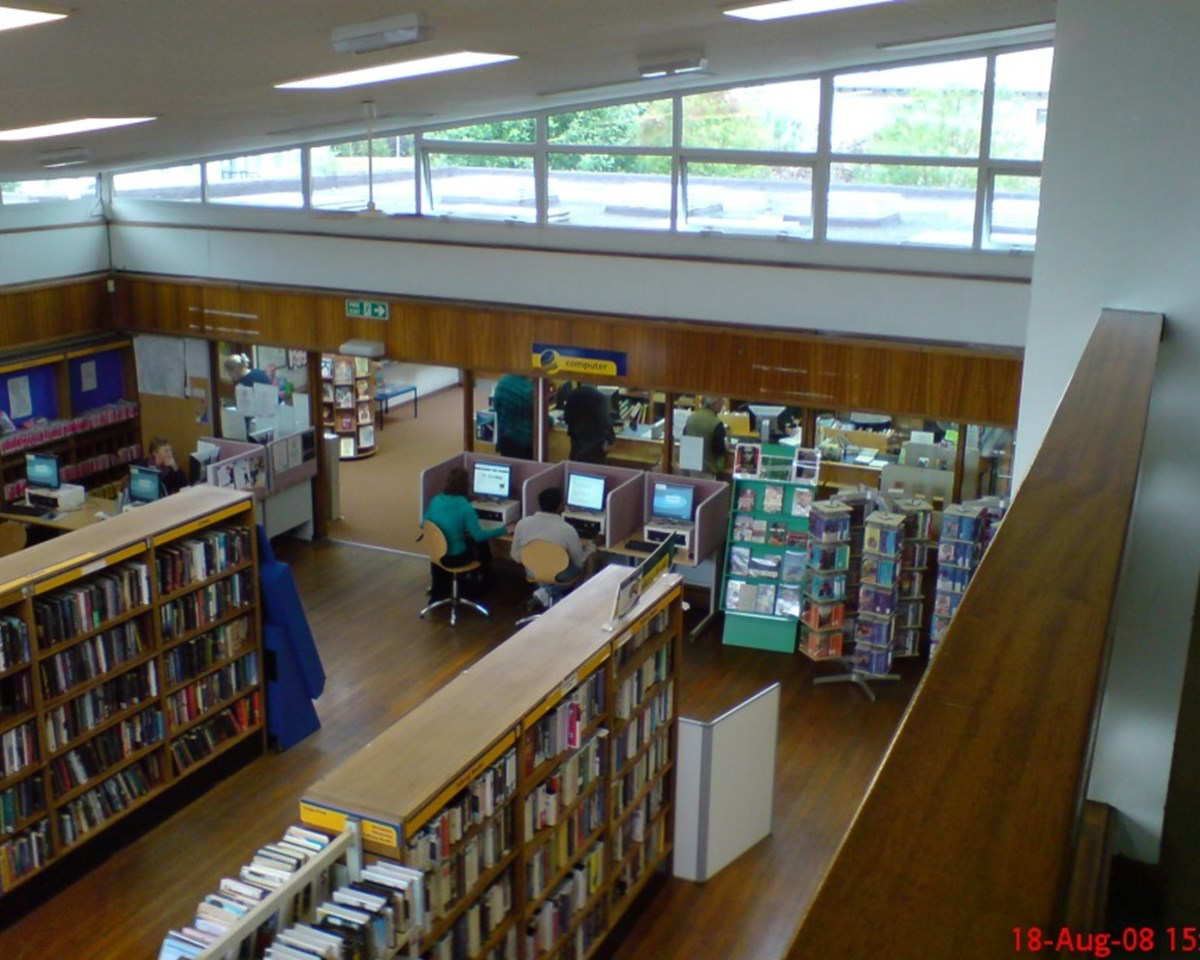 Here's a typical library layout
