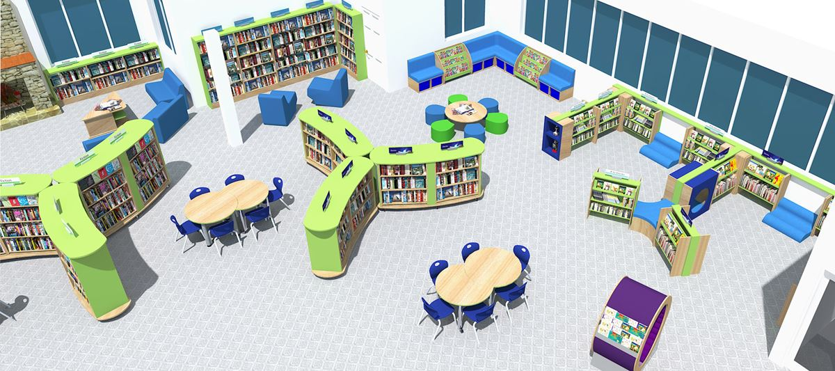 Library design 3d visualisation