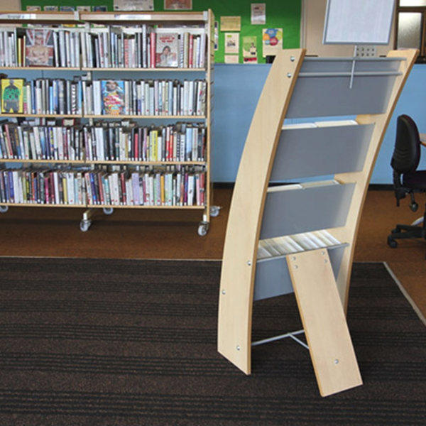 Incorrect way to position library display unit