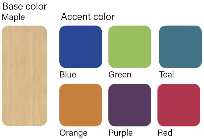 Table Top and Edge Band color choices