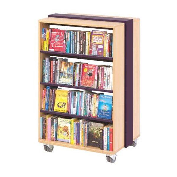 Mobile Straight Bookcase